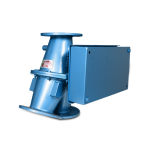 Conveying diverter valve for re-routing and bypass of hazardous materials: Product Image 1 - Explosion containment Safevent