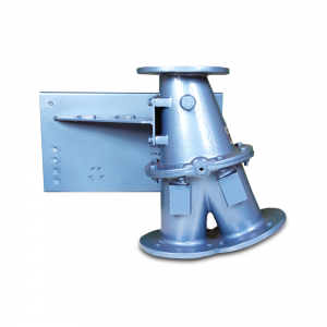 Conveying diverter valve for re-routing and bypass of hazardous materials: Product Image 2 - Explosion containment Safevent