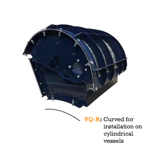 Flameless explosion venting - model VIGILEX VQ-R - For installation on cylindrical vessels - product image