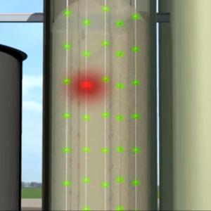 Temperature monitoring system, model Unitest: Temperature increase detected - Safevent