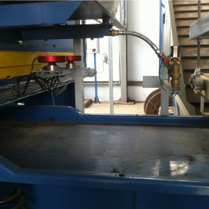 Gnistdetektor (SDD) og slukkeautomatik (SA1): Monteret på transportbånd