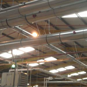Gnistdetektorer(SDN): Monteret på indendørs kanal