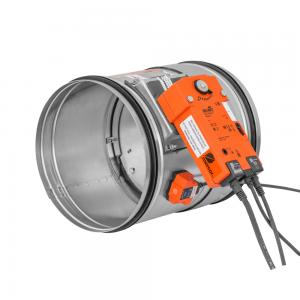Enkeltblads lavmodstands cut-off brandspjæld til komfortventilation: Model FID PRO - Produktbillede 1