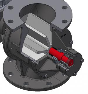 Rotorsluse (doserende), Type MD-150: Profil - Safevent