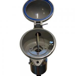 Temperaturovervågningssystem, Model Unitest: Produktbillede 3 - åben hætte (close-up) - Safevent